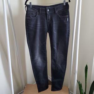 Silver Suki Mid Skinny Black Joga Jeans Sz 29